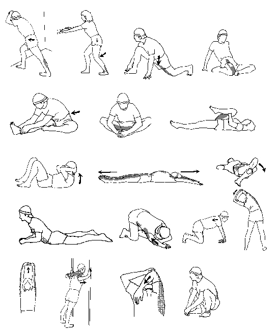 Stretch Exercises Diagrams