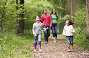 family-walking-in-park